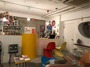 空想カフェのカウンター
