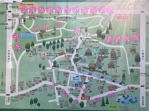 鬼太郎茶屋のある深大寺の案内Map