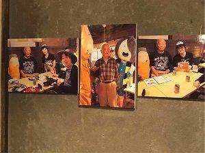 鬼太郎茶屋を訪れた水木しげる先生の写真