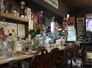 珈琲拉麵のある亜呂摩のカウンター