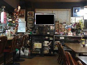 珈琲拉麵のある亜呂摩の店内はレトロ調