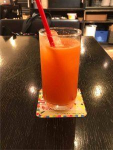 文房具カフェのオレンジスカッシュ
