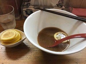 りんすず食堂のレモンラーメンを完食