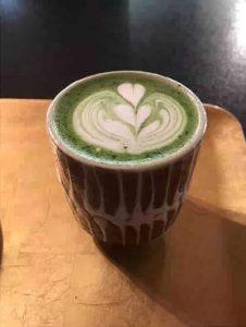 ぼうずン・コーヒーで抹茶ラテ
