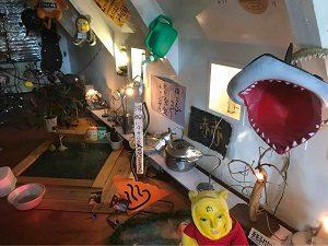 スプーンアートの二階には謎の展示
