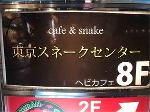 東京スネークセンターはビルの8階