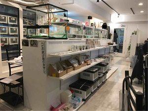 東京スネークセンター店内中央には物販コーナー
